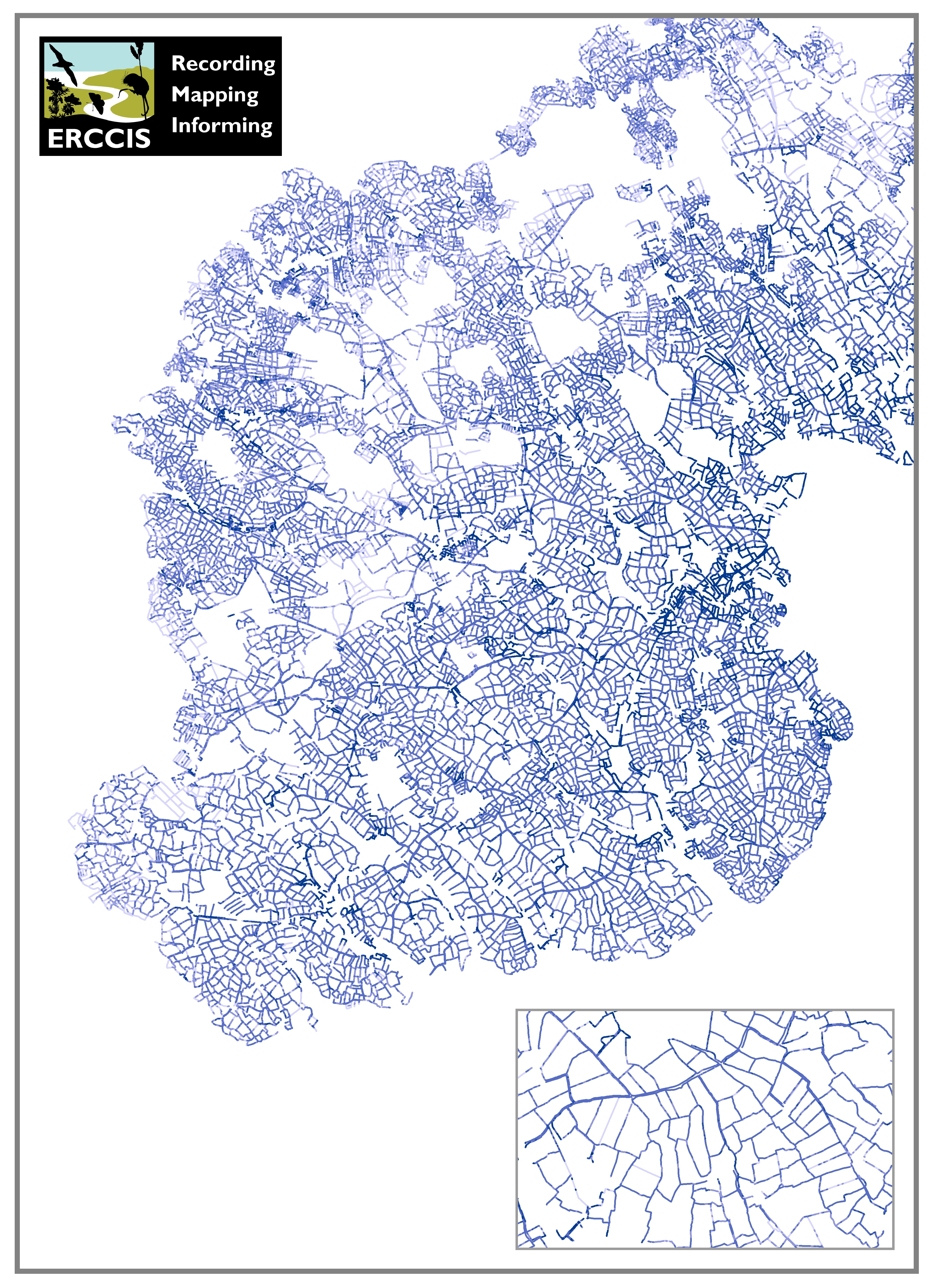 Hedges graphic from the GIS data